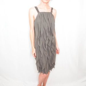 White by Vera Wang Grey Sleeveless Cocktail Dress